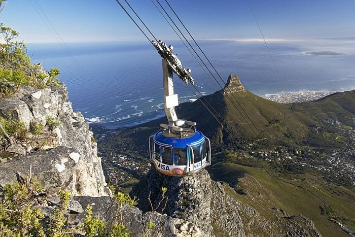 Table Mountain by cable car