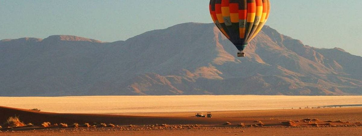 Hote air ballooning near Sossusvlei, namibia - where to go in Africa